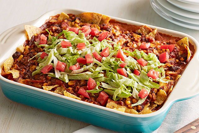 VELVEETA® Easy Taco Bake with Tortilla Chips Image 1