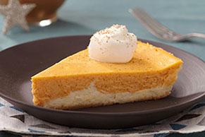 Cheesecake de calabaza en dos capas