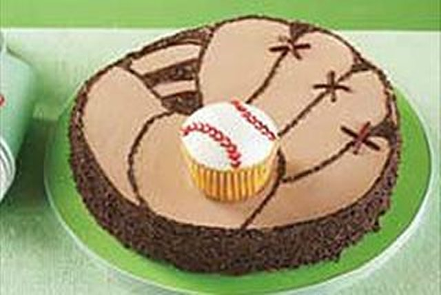 Baseball Mitt Cake Image 1