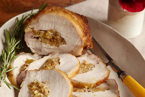 Maple-Glazed Stuffed Roast Pork