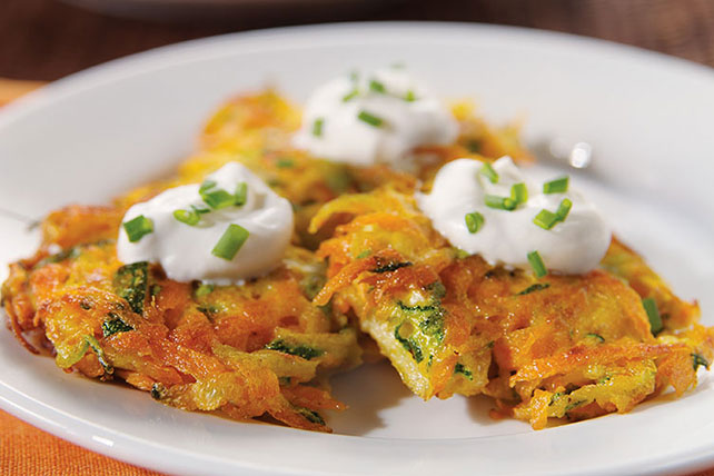Carrot and Zucchini Latkes Recipe