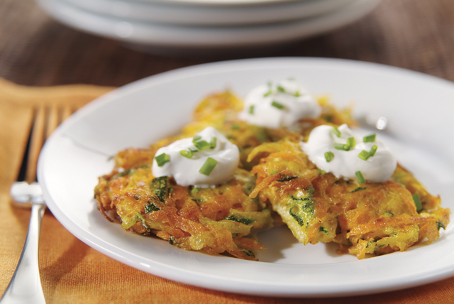 Carrot and Zucchini Latkes Image 1
