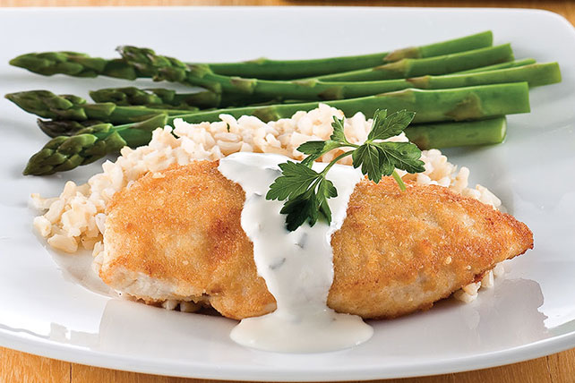 Parmesan-Crusted Chicken in Cream Sauce Image 1