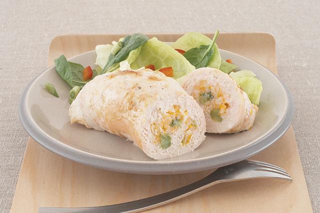 Pechugas de pollo rellenas con queso y arroz Image 1