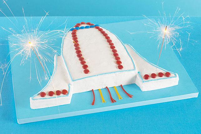 Blast-Off Spaceship Cake Image 1