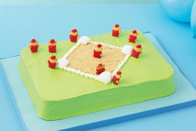 Baseball Diamond Cake Image 1