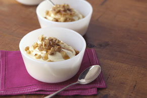 Creme Maple with Toasted Walnuts