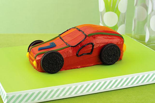 Gâteau auto de course Image 1
