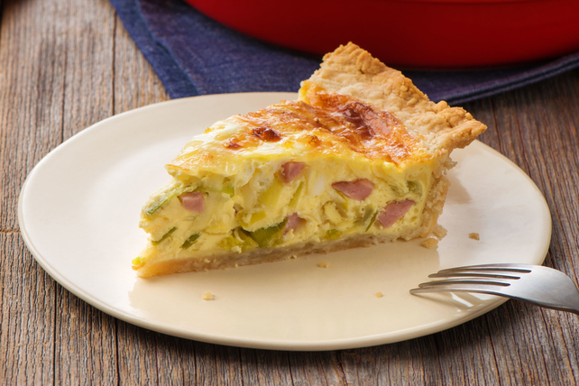 Savory Leek & Ham Quiche - Kraft Recipes