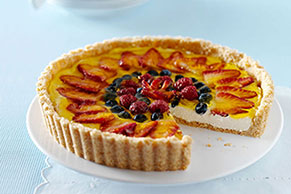 Triple-Berry Cheesecake Tart Image 1