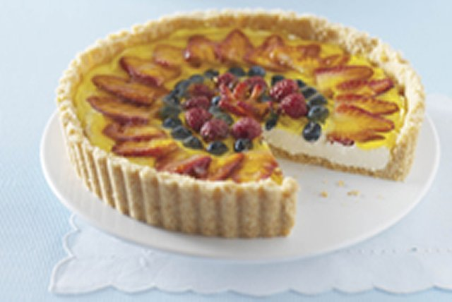 Triple-Berry Cheesecake Tart