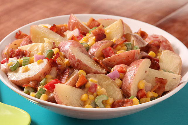 BBQ Potato, Bacon & Corn Salad Image 1