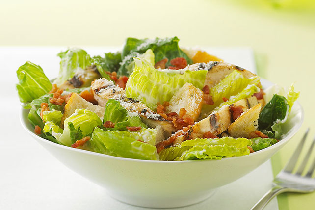 Barbecued Chicken Caesar Salad