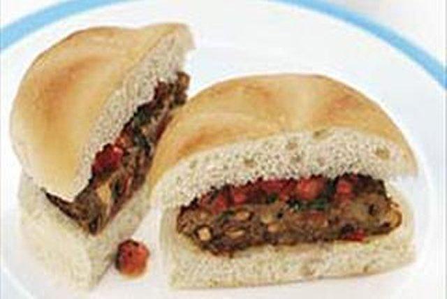 Cheesy Mushroom Burgers Image 1