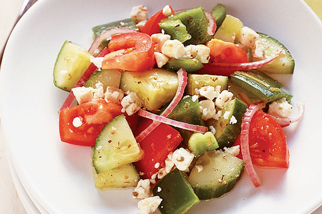 Easy Greek Cucumber-Tomato Salad Image 1