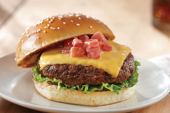 Steakhouse Burgers with Cheese Image 1