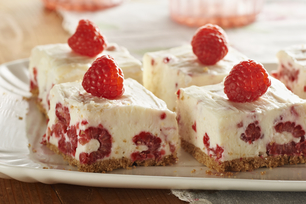 No-Bake Raspberry-Lemon Bars