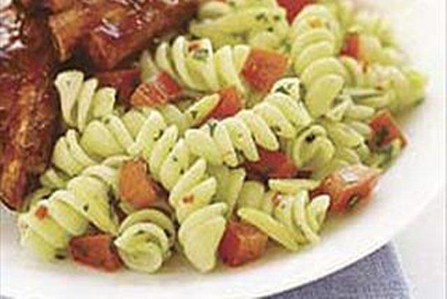 Pasta con pesto de cilantro Image 1