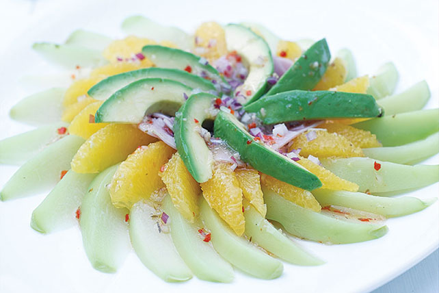 Orange, Chayote, Ham and Avocado Salad Image 1