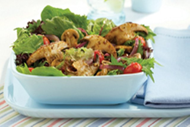 Warm Mushroom Greek Salad Image 1