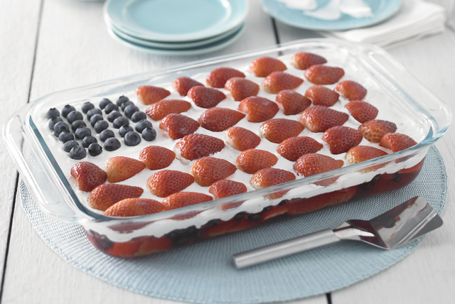 Wave your flag cake receta comida kraft for Fourth of july party dessert ideas