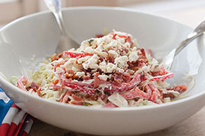 Red, White and Blue Cheese Coleslaw