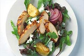 BBQ Chicken Salad with Grilled Apples
