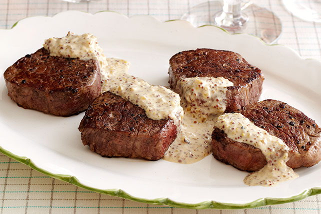 Filet Mignon with GREY POUPON Sauce - Kraft Recipes