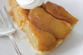Tarta invertida de manzanas