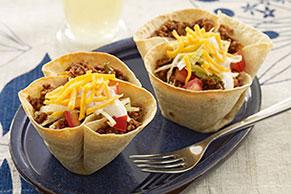 Mini Beef Taco Bowls