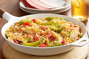 Cheddar-Chicken & Rice Skillet