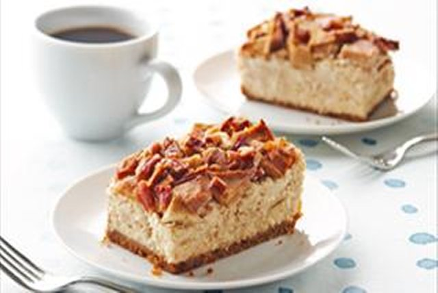 Cheesecake con manzanas y nueces