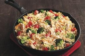 Cheddar Chicken & Rice Skillet