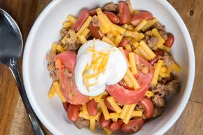 Chili con macaroni