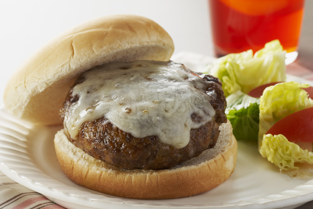 Four-Cheese Skillet Burgers Image 1