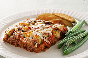 Easy Layered Italian Meatloaf
