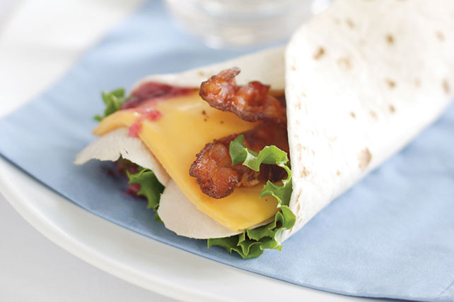 2. Apple and Cheddar Wrap