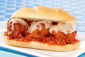 Meatball Sandwich with Cheese