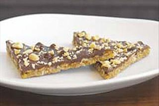 Chocolate-Covered Peanut Crisp Triangles Image 1