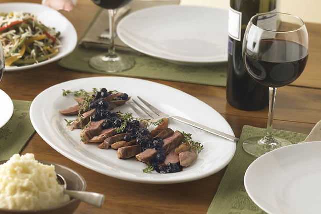 Pan-Seared Duck with Blueberry Sauce