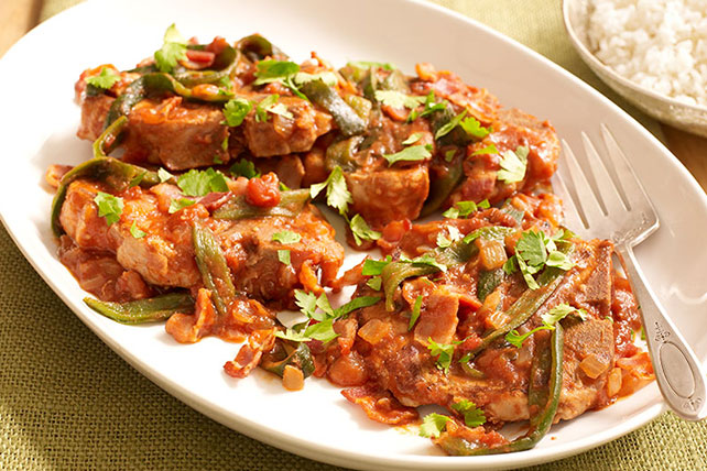 Saucy Spiced Pork Chops Image 1