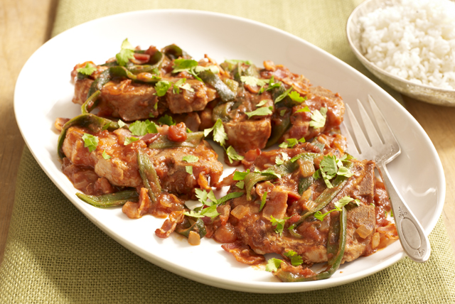 Chuletas de cerdo con salsa picante Image 1