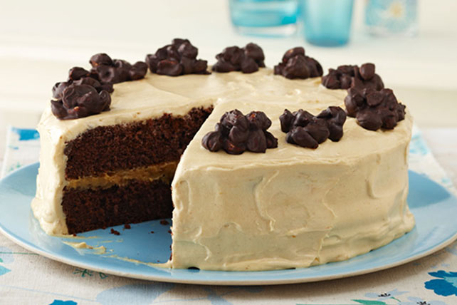 Chocolate Cluster-Peanut Butter Cake Image 1