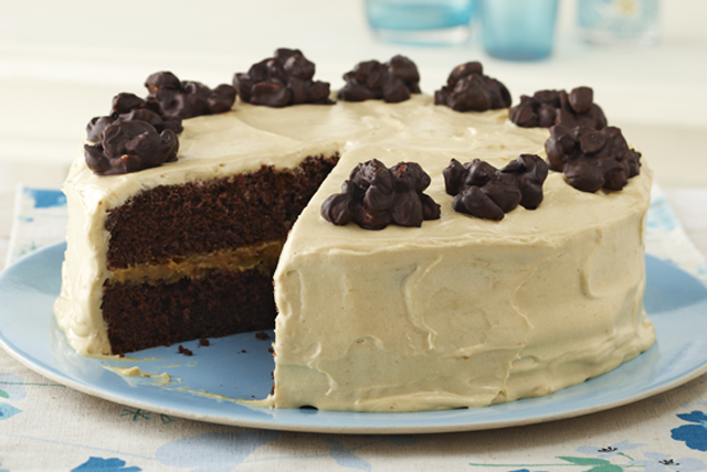 Chocolate Cluster-Peanut Butter Cake Recipe - Kraft Canada