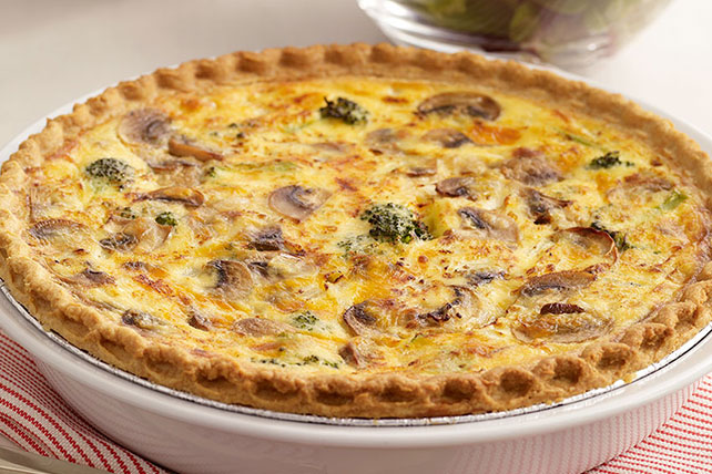 Broccoli And Cheddar Quiche Recipe Kraft What S Cooking