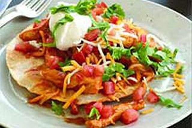 Chicken & Cheese Tostadas Image 1