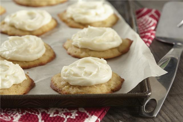 Apple Cookies with Cream Cheese Frosting