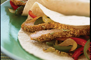 Oven-Lime Pork Fajitas
