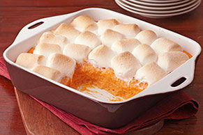 Baked Sweet Potatoes with Marshmallows