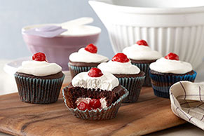Black Forest-Stuffed Cupcakes